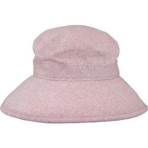 Puffin Gear Linen Canvas UPF50 Sun Protection Garden Hat-Berry