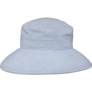 Puffin Gear Linen Canvas UPF50 Sun Protection Garden Hat-Faded Denim