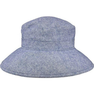 Puffin Gear Linen Canvas UPF50 Sun Protection Garden Hat-Navy