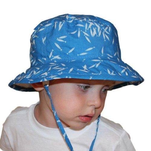 Puffin Gear UPF50+ Sun Protection Organic Cotton Child Camp Hat-Made in Canada-Charlie Harper-Minnow