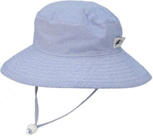 Child Sun Protection Oxford Cotton Wide Brim Sunbaby Hat