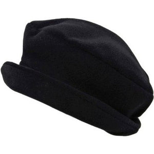 Puffin Gear Polartec Classic 200 Series Fleece Rolled Brim Ladies Winter Hat-Made in Canada-Black
