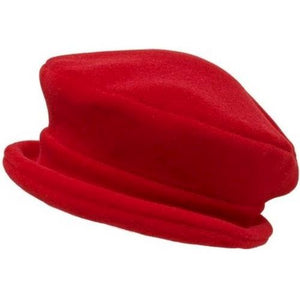 Puffin Gear Polartec Classic 200 Series Fleece Rolled Brim Ladies Winter Hat-Made in Canada-Red