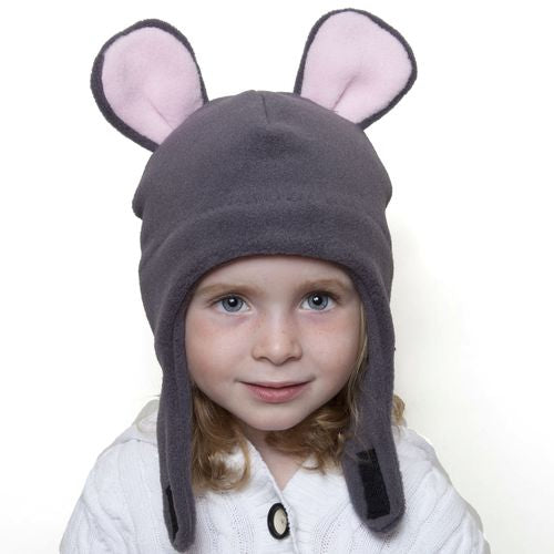 Puffin Gear Polartec Classic 200 Series Fleece Child and Toddler  Mouse Hat with Chinwrap Closure-Made in Canada