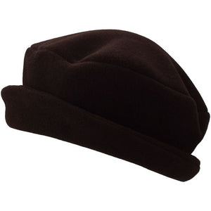 Puffin Gear Polartec Classic 200 Series Fleece Rolled Brim Ladies Winter Hat-Made in Canada-Cocoa