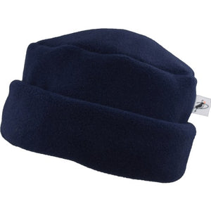 Puffin Gear Polartec Classic 300 Series Fleece Cuffed Pillbox Hat-Made In Canada-Navy
