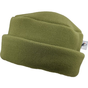 Puffin Gear Polartec Classic 300 Series Fleece Cuffed Pillbox Hat-Made In Canada-Olive