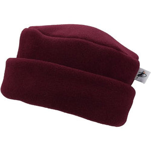 Puffin Gear Polartec Classic 300 Series Fleece Cuffed Pillbox Hat-Made In Canada-Maroon
