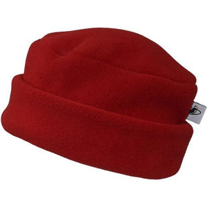 Puffin Gear Polartec Classic 300 Series Fleece Cuffed Pillbox Hat-Made In Canada-Red