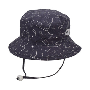 Puffin Gear Child UPF50+ Sun Protection Camp Bucket Hat-Made in Canada-I Love Science-Constellations
