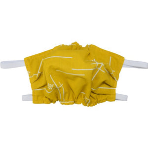 Puffin Gear 3 Layer Reusable Washable Mask with Spunbond Polypropylene Non Woven Filter Layer-Made in Canada-Organic-Goldenrod