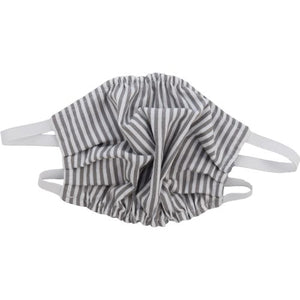 Puffin Gear 3 Layer Reusable Washable Mask with Spunbond Polypropylene Non Woven Filter Layer-Made in Canada-Grey Stripe