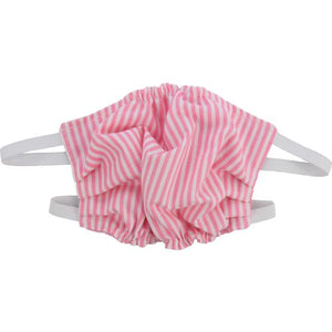 Puffin Gear 3 Layer Reusable Washable Mask with Spunbond Polypropylene Non Woven Filter Layer-Made in Canada-Pink Stripe