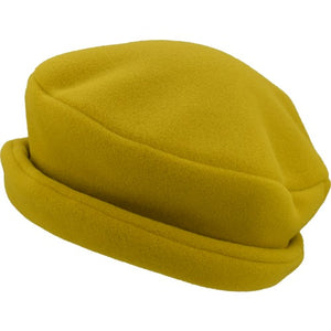 Puffin Gear Polartec Classic 200 Series Fleece Rolled Brim Ladies Winter Hat-Made in Canada-Chartreuse