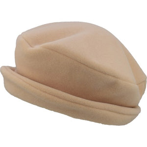 Puffin Gear Polartec Classic 200 Series Fleece Rolled Brim Ladies Winter Hat-Made in Canada-Fawn