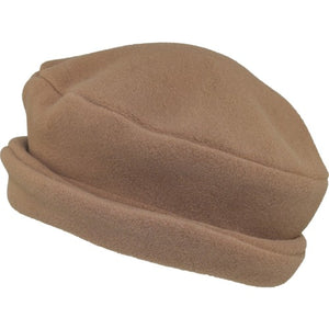 Puffin Gear Polartec Classic 200 Series Fleece Rolled Brim Ladies Winter Hat-Made in Canada-Latte