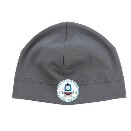 Puffin Gear Organic Cotton Jersey Beanie-Thomas & Friends 75th Anniversay -Grey-Made in Canada