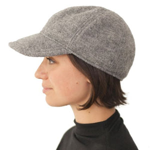 Puffin Gear Tilburg Wool Ball Cap-Made in Canada-Frost Grey