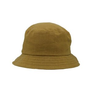 Puffin Gear Patio Linen UPF50 Sun Protection Bucket Hat-Made in Canada - Dijon