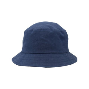 Puffin Gear Patio Linen UPF50 Sun Protection Bucket Hat-Made in Canada -Marine