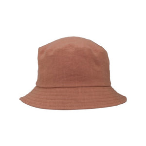 Puffin Gear Patio Linen UPF50 Sun Protection Bucket Hat-Made in Canada -Salmon