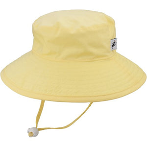 Puffin Gear Organic Cotton UPF50+ Sun Protection Wide Brim Child Sunbaby Hat-Buttercup