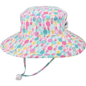 Puffin Gear Child UPF50 Sun Protection Wide Brim Sunbaby Hat-Pineapple