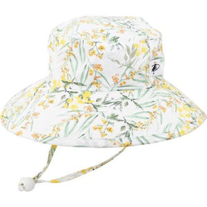 Puffin Gear Child UPF50 Sun Protection Wide Brim Sunbaby Hat-Pollinator Garden