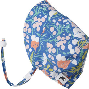 Puffin Gear Organic Cotton Infant and Toddler UPF50 Sun Protection Bonnet-Made in Canada-Flower Bed