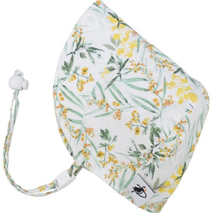 Puffin Gear UPF50+ Sun Protection Infant and Toddler Bonnet-Made in Canada-Pollinator Garden-Meadow