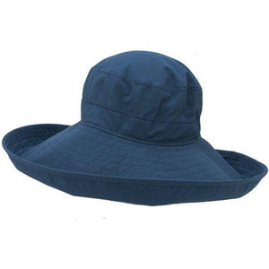 Puffin Gear UPF50  Six Inch Wide Brim Sun Protection Starlet Hat-Made in Canada-Navy