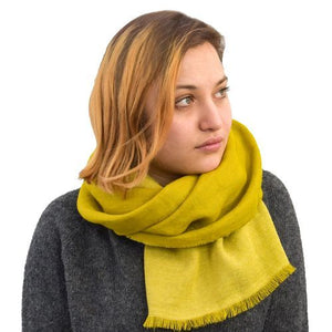 Puffin Gear Linen Wool Fringed Scarf-Made in Canada