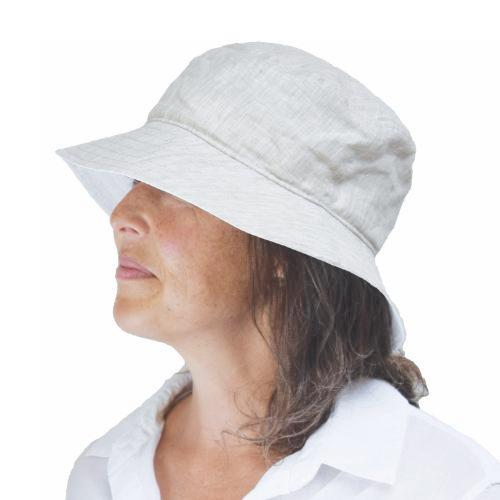 Puffin Gear Linen Chambray Crusher Hat-UPF50+ Sun Protection-Made in Canada