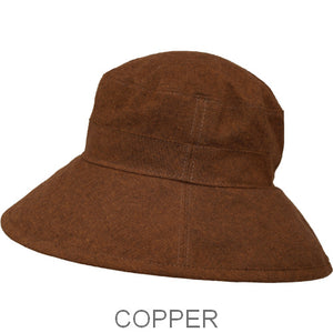 Puffin Gear Linen Tweed Fall Garden Hat-Copper-UPF50+ Sun Protection-Made in Canada