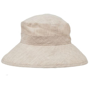 Puffin Gear Linen Chambray UPF50+ Sun Protection Wide Brim Garden Hat-Made in Canada-Almond