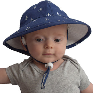 Puffin Gear Infant Cotton UPF50+ Sun Protection Sunbeam Hat-Anchor