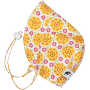 Puffin Gear UPF50 Sun Protection Infant and Toddler Bonnet SALE-Flower Mosaic-Yellow
