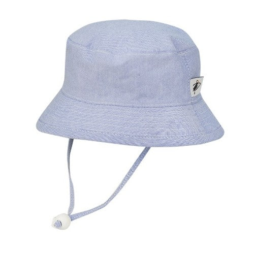 Child Sun Protection Oxford Cotton Camp Hat