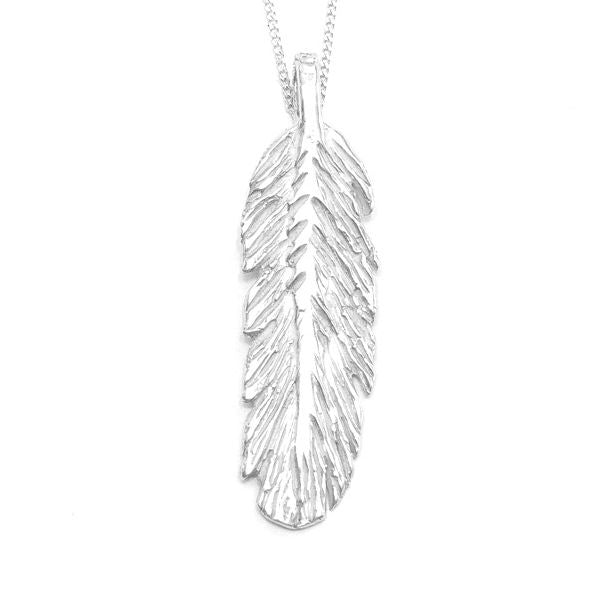 Sterling Silver Feather Necklace Sale-Made in Canada