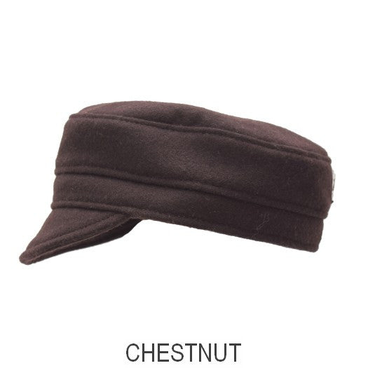 Puffin Gear Melton Wool Child Cap-Chestnut-Made in Canada