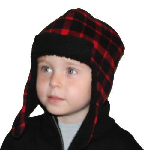 Puffin Gear Plaid Trapper Child Hat-Made in Canada