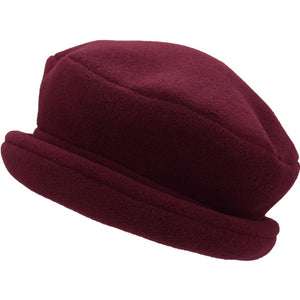 Puffin Gear Polartec Classic 200 Series Fleece Rolled Brim Ladies Winter Hat-Made in Canada-Maroon
