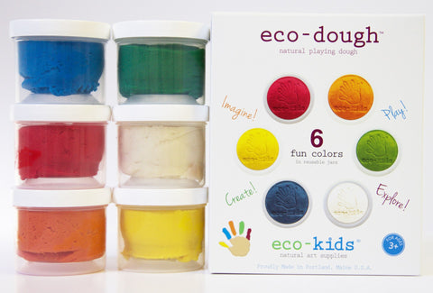Eco-Kids Play Dough - 6 pack