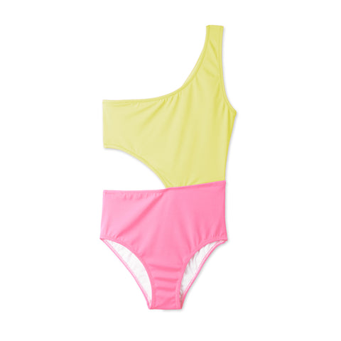 3cb55bd6ee Stella Cove Yellow & Pink Dual Tone Cutout Swimsuit