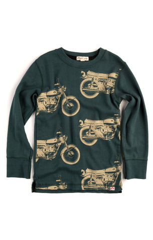 Appaman Boys Ponderosa Green Motorcycle Tee