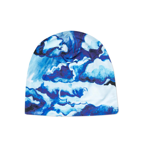 Mini Rodini Blue Clouds Print Beanie Hat - Little Luna Blue