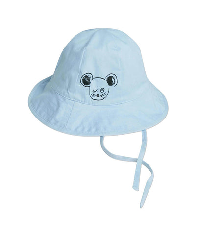 Mini Rodini Blue Chin Tie Sun Hat - Little Luna Blue