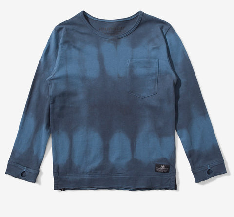 Munster Kids Boys Blue Dye Dye Dye Tee