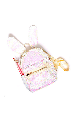 Plum NYC Sequined Bunny Backpack