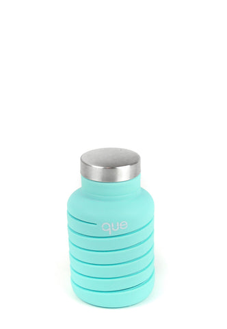 Que Bottle Misty Mint Collapsible Water Bottle